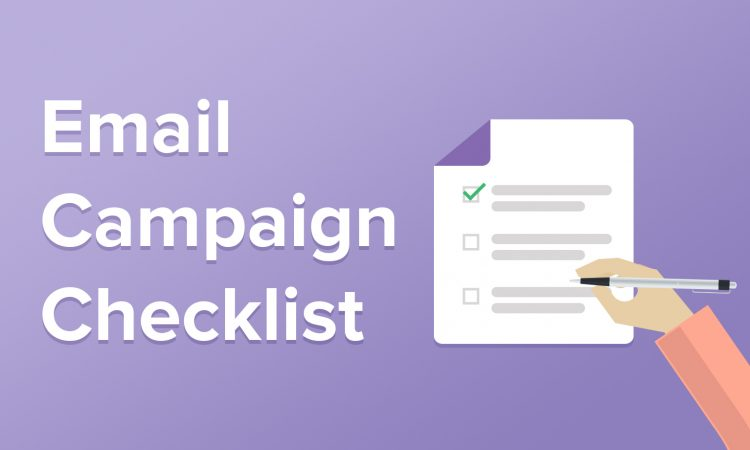 email campaign checklist