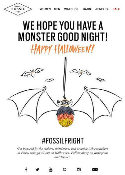 Fossil Halloween Email