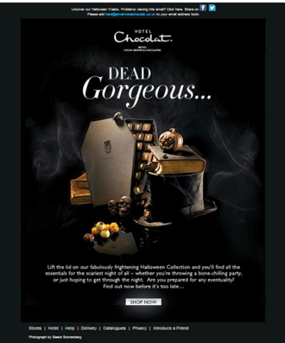 hotel chocolat halloween email