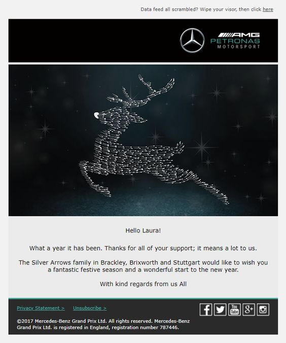 mercedes christmas email template