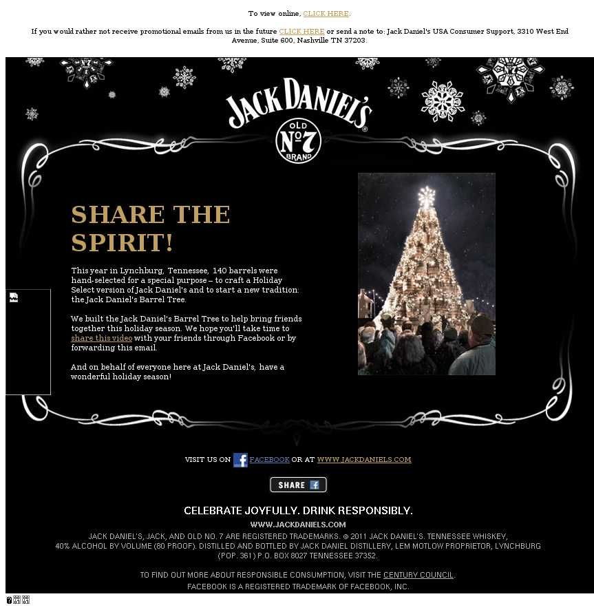 christmas email template jack daniels